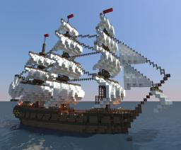 The HMS Interference - 6th Rate 28 Gun Frigate Minecraft Map & Project