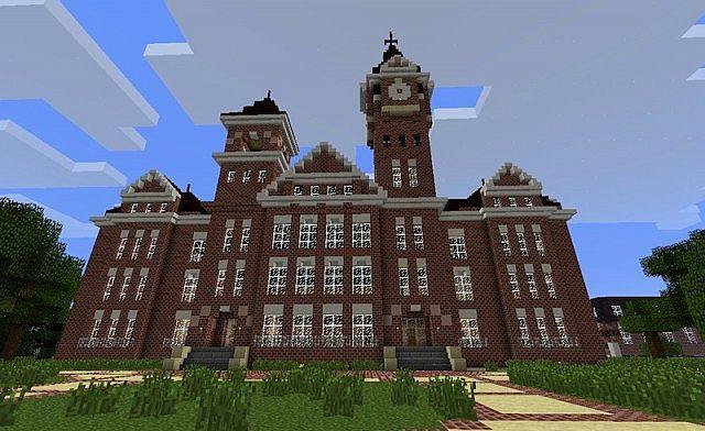 Minecraft School Building Inside