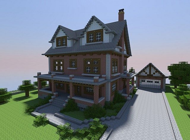 Late 1800 S Brick House Minecraft Project