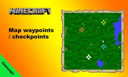 Map waypoints / checkpoints in vanilla minecraft 1.7
