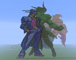 Jojo's bizarre adventure HD Jotaro Kujo and Star Platinum Minecraft Map & Project