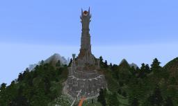 Barad-dûr built on a Survival server (SMP) Minecraft Project