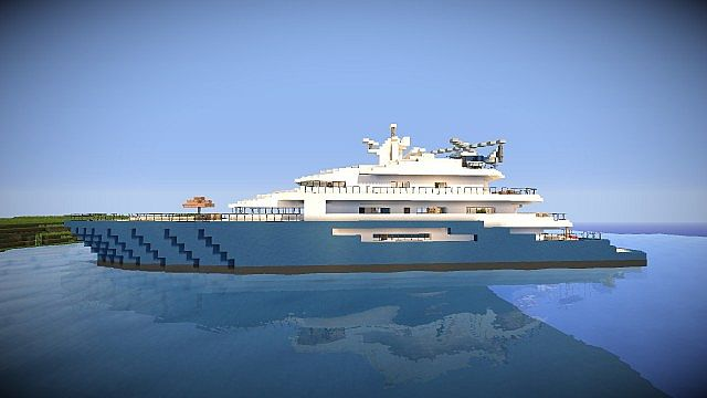 luxury yacht minecraft project