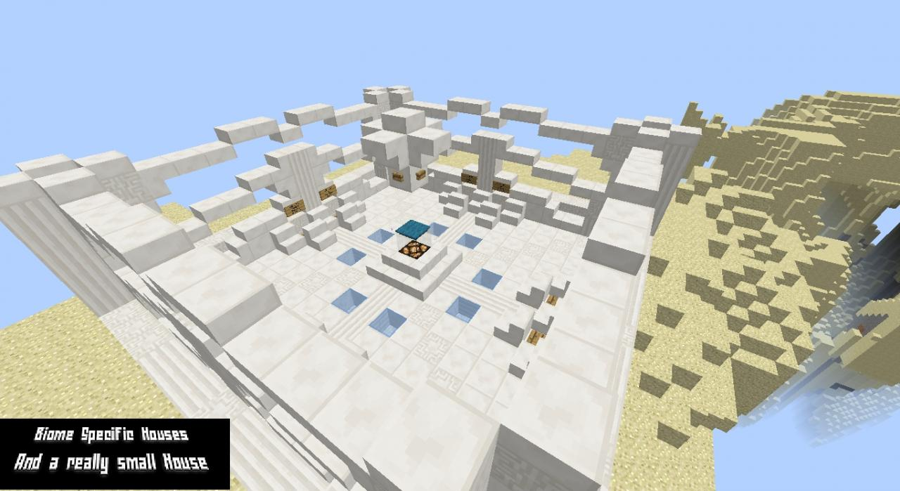 Biome Specific Small Houses Minecraft Project