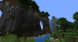 Custom Terrain: Waterfall and Mountains Minecraft Map & Project