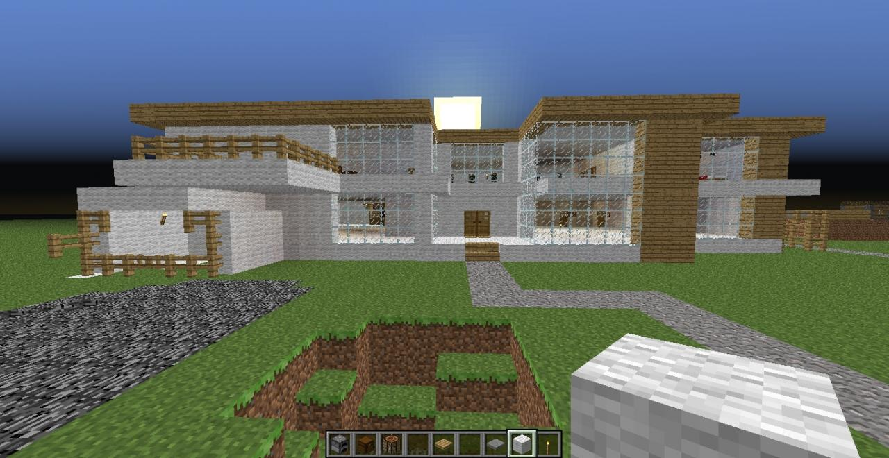 Modern house mansion minecraft project for Project modern house