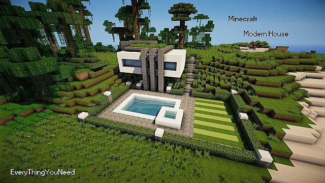 Minecraft modern house minecraft project for Modern house 5 keralis