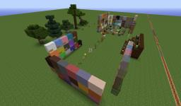 1.7.2 Texture pack viewing schematic with command block dispenser Minecraft Map & Project