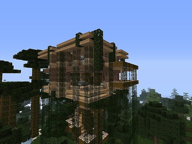 how to build a jungle tree house in minecraft