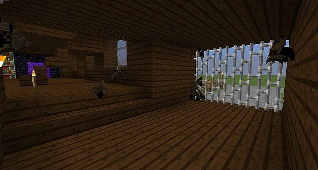 Minecraft Oak Wood ~ Modern dark oak wood house minecraft project