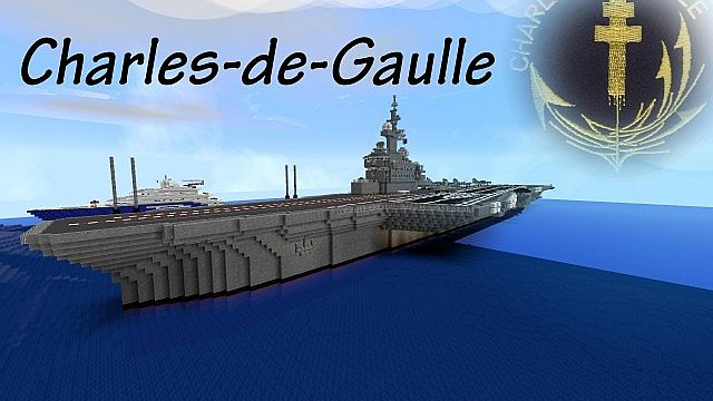 charles de gaulle aircraft carrier minecraft project