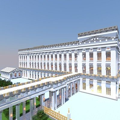 how to make a palace in minecraft pe