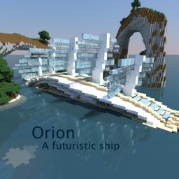 Orion, a futuristic ship Minecraft Map & Project
