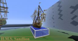 H.M.S. Sandlion - 50 sub special Minecraft Map & Project