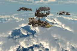 Piltowers Fleet - Steampunk Airship Bundle Minecraft Map & Project
