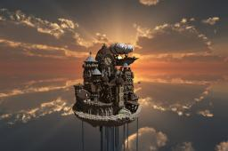 Theceran - Flying Steampunk Island Minecraft Project