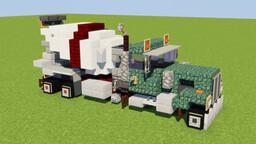 Peterbilt Concrete Mixer Truck Minecraft Map & Project