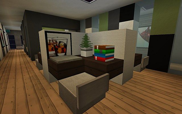 Modern office furniture minecraft project for Minecraft house interior living room