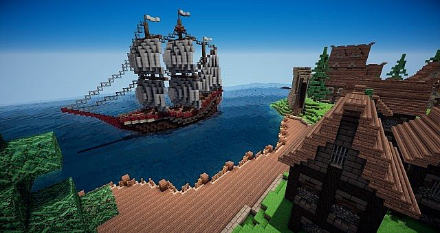 The St. Kepler Galleon and the Docks