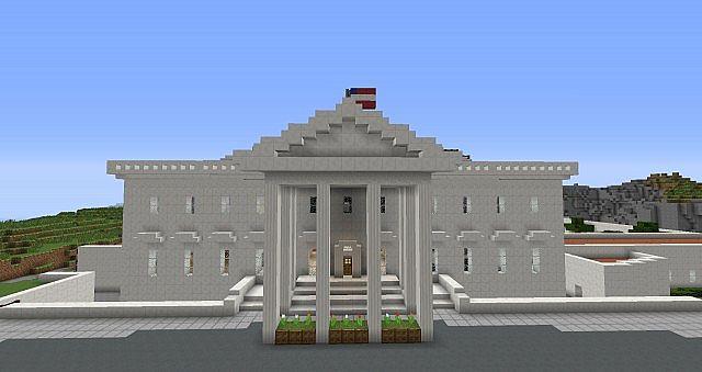 White House In Minecraft Minecraft Map