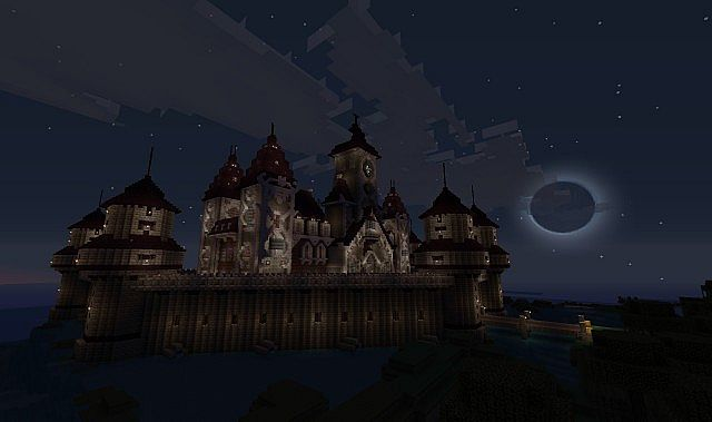 Haunted Vampire Mansion/ Castle. Minecraft Project