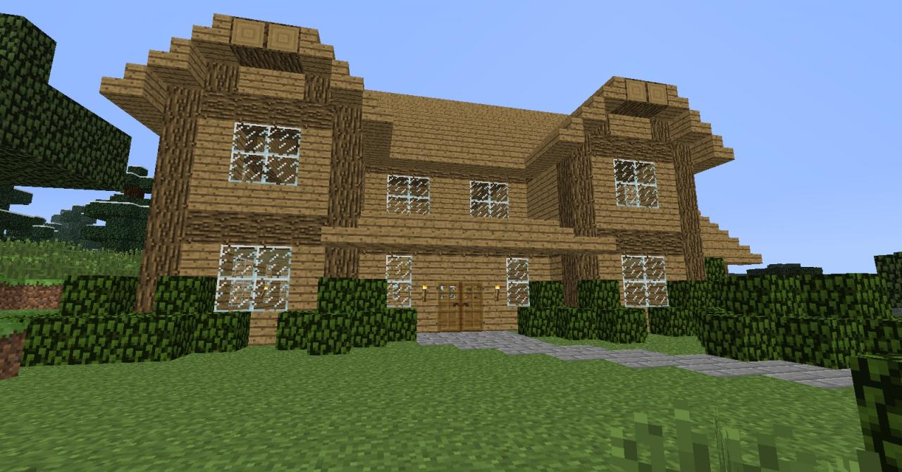 Simple two story house minecraft project for Best simple house