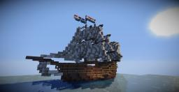 First attempt at a stylish medieval ship. Minecraft Map & Project