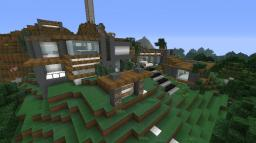 Modern Mountain Home Minecraft Project