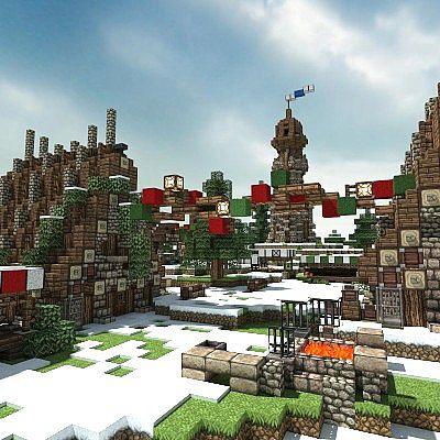 Winter Village - A Minecraft Christmas Minecraft Project