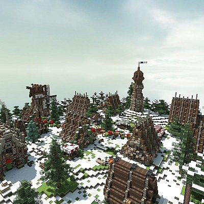 Minecraft Christmas Houses.Winter Village A Minecraft Christmas Minecraft Project