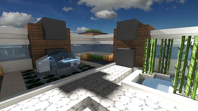 Flow modern house minecraft project for Modern house projects