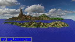 One of my most realistic islands! (Custom terrain) Minecraft
