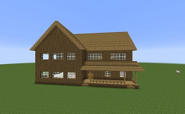 Old fashioned house minecraft project for Classic house tutorial