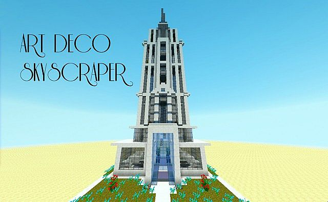 Art Deco Style Skyscaper Minecraft Project