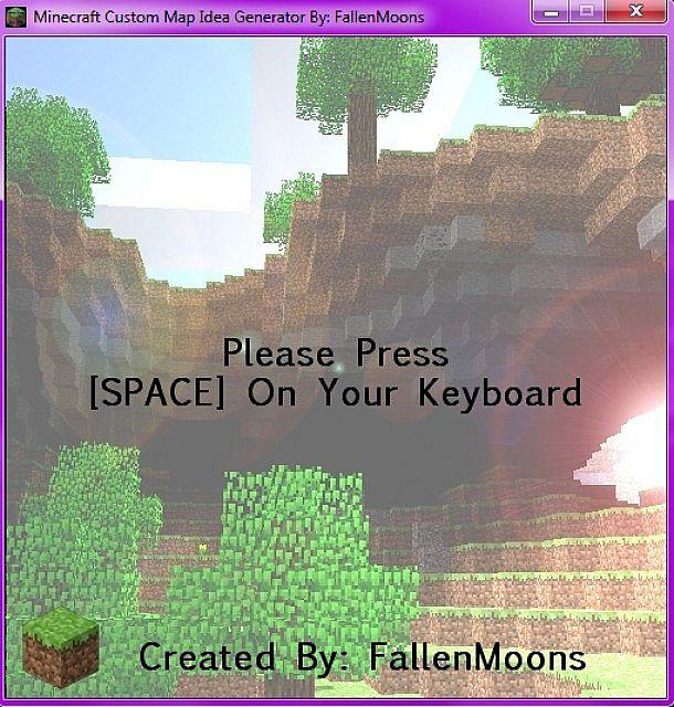 Minecraft Custom Map Idea Generator! Now ONLINE - MAC - PC