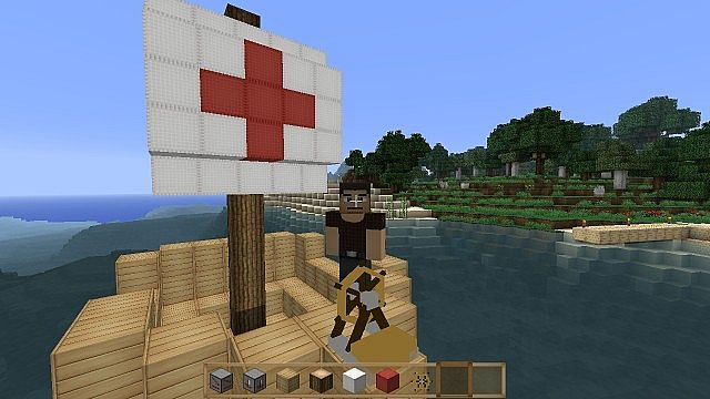 How To Build A Paddle Boat In Minecraft