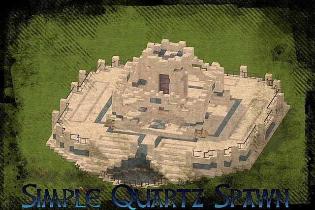 Simple Quartz Spawn/Lobby with glass item elevator