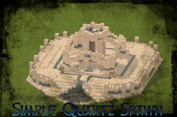 Simple Quartz Spawn/Lobby    with glass item elevator!!! Minecraft Map & Project