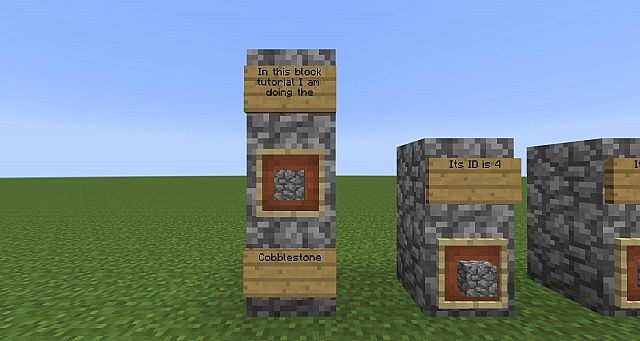 Minecraft Cobblestone Block : Block tutorial cobblestone id minecraft project