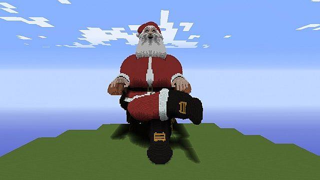 Christmas Minecraft Santa.Merry Christmas Santa Pixel Art Minecraft Project