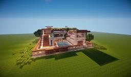 Modern Flat Villa Minecraft Map & Project