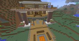 BIG Modern Mansion Minecraft Map & Project