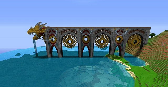 Dragons End Pier Minecraft Project