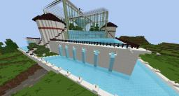 Spawn Quartz and Water Garden Minecraft Project