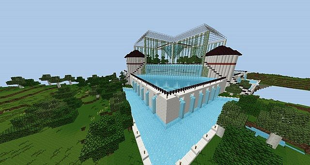 Spawn quartz and water garden minecraft project - Minecraft garden designs ...