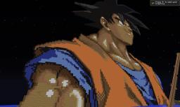 Goku GIANT Pixel art. Minecraft Map & Project