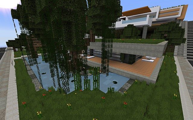 Rebirth a modern home keralis showcase minecraft project for Modern house 5 keralis