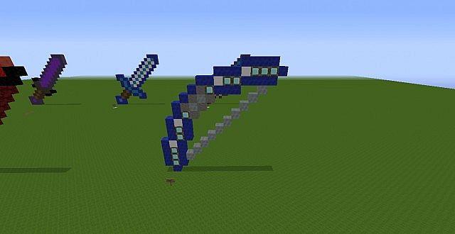 HEXXIT weapons pixel art Minecraft Project