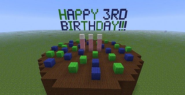 Planet Minecraft 3rd Birthday Birthday Cake Minecraft