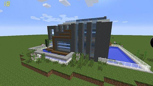 Modern House Exterior Minecraft Project